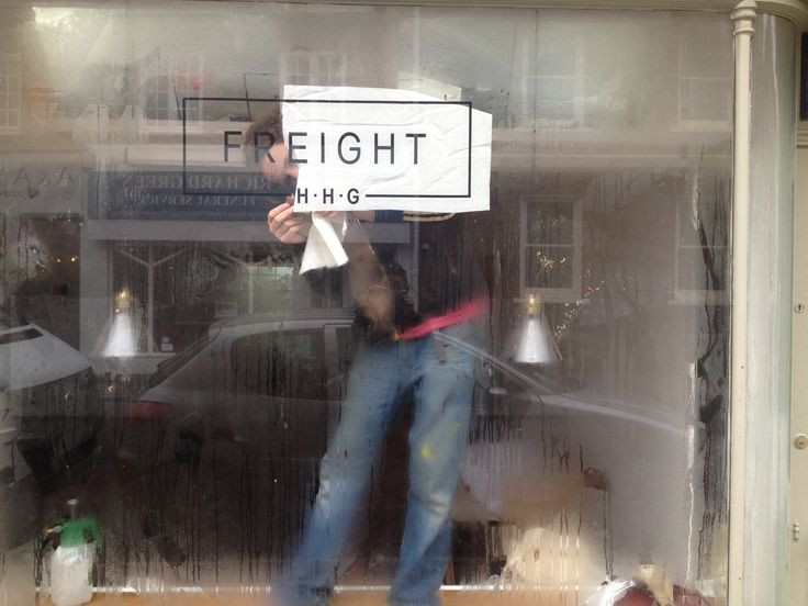 Freight now open. New shop window in Lewes.