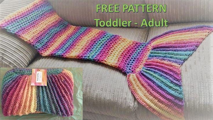 Majestic Mermaid Tail Blanket (Free pattern)