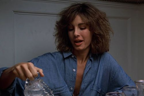 everyone was so creeped out by glenn close's character in fatal attraction that they forget to talk about how gorgeous and chic the wife is, played by anne archer. best hair, best collarbone.