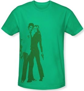 Chuck Bartowski and Sarah Walker on a amazing t-shirt