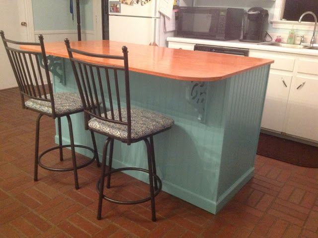 Home Sweet Hurn: We Built an Island (from stock cabinets - $350)
