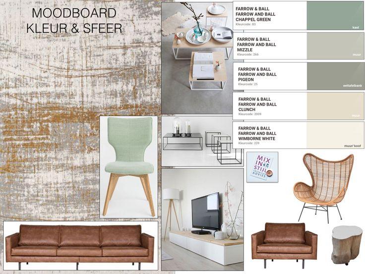 Moodboard sfeer/ kleur en materiaal , Willem & Paula, Arnhem - interieuradvies van Mix in Stijl - www.mixinstijl.nl