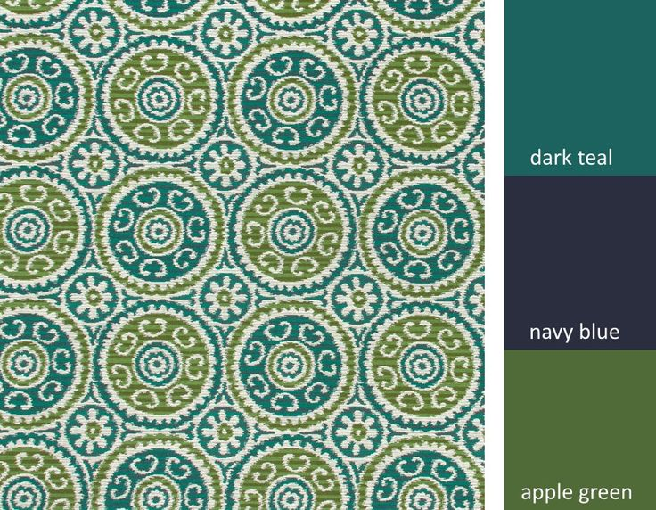 Dark Teal Suzani Upholstery Fabric   Navy Teal Fabric For Furniture    Heavyweight Textile $60/