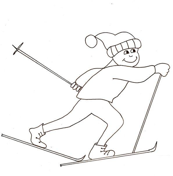 coloriages sur le ski et les sports d\'hiver