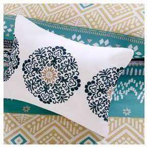 Aneesa Global Print Comforter Set - Teal&Yellow : Target