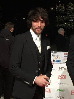 Colin Morgan at the NTA awards 2016 source:nikkialexandar tumblr