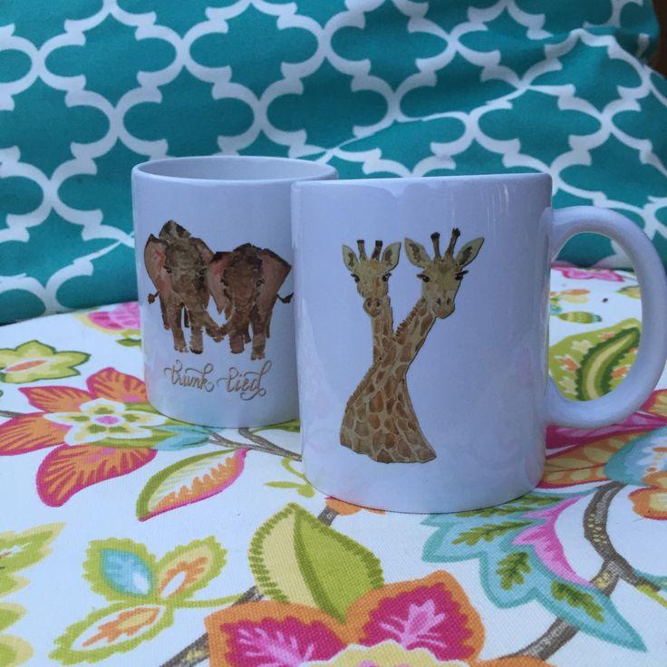 Neck Tied Giraffe Mug   haylily com  FlourishYourLife  HaylilyDesigns