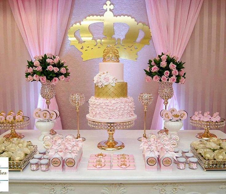 Decoração Princesa Realeza: mais de 50 ideias – Inspire sua Festa ®