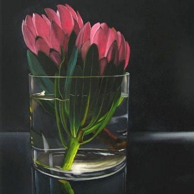 Protea 2   6x6, painting by artist M Collier