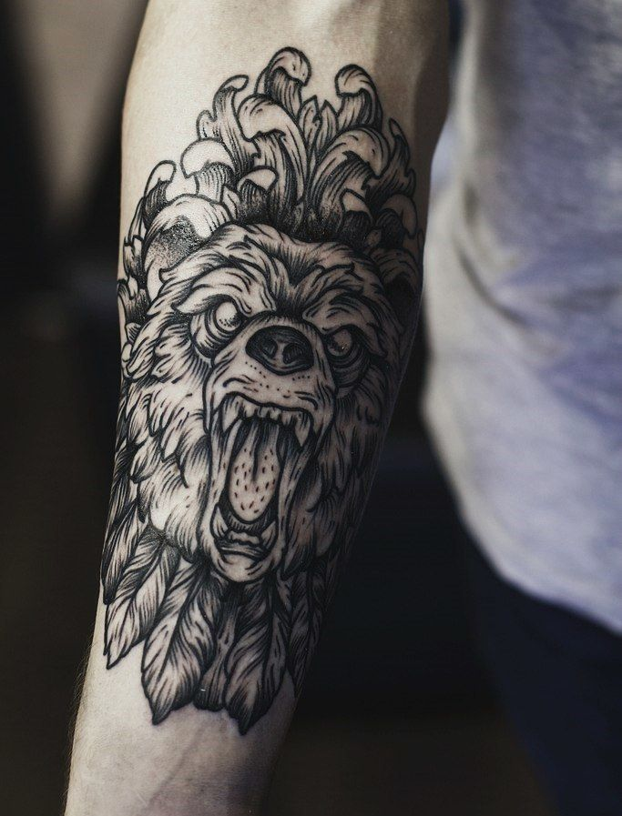 amazing bear linework dotwork tattoo tats pinterest bears and tattoos and body art. Black Bedroom Furniture Sets. Home Design Ideas