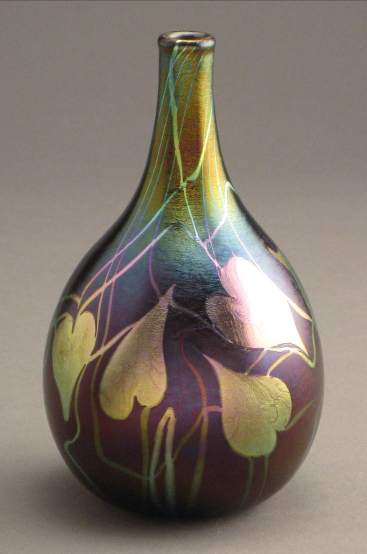 115 best art nouveau images on pinterest news art tiles and quezal art glass vase with random platinum iridescent heart and vine decoration ca 1902 dailygadgetfo Gallery