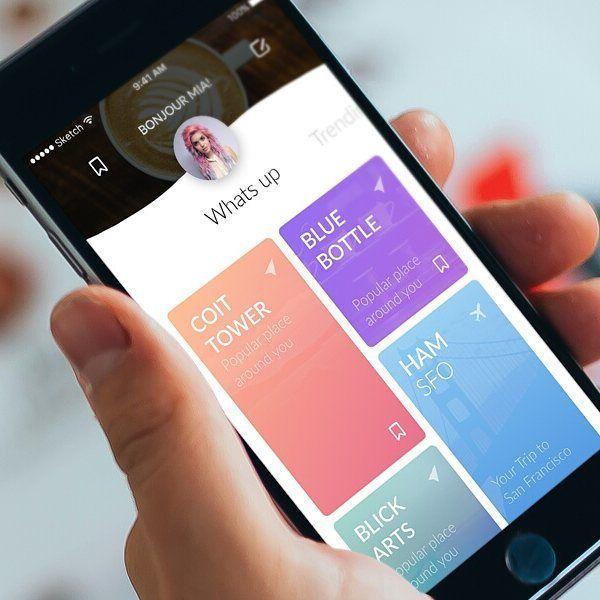 Travel Companion by Julius Koroll #app #appdesign #behance #design #designer…