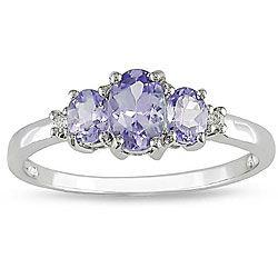 Love it - Miadora 10k White Gold Tanzanite and Diamond Ring