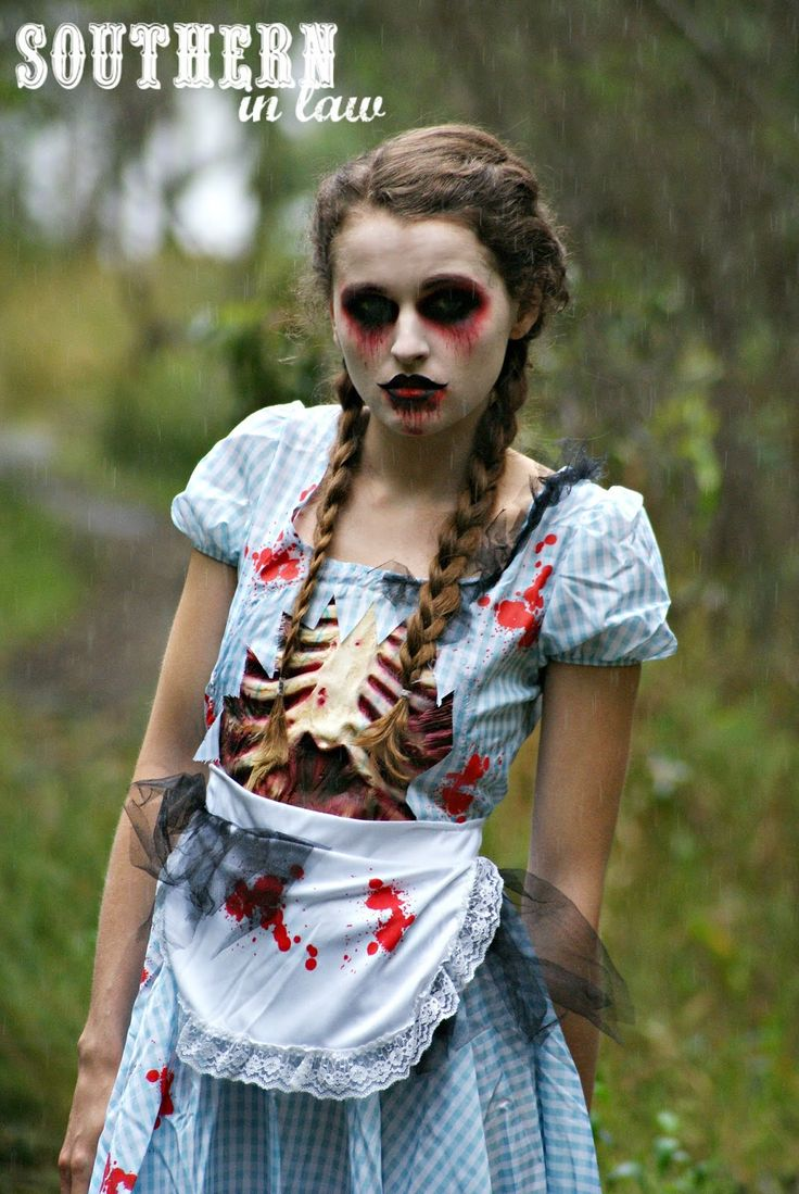 step by step halloween zombie look tutorial - Zombie Halloween Faces