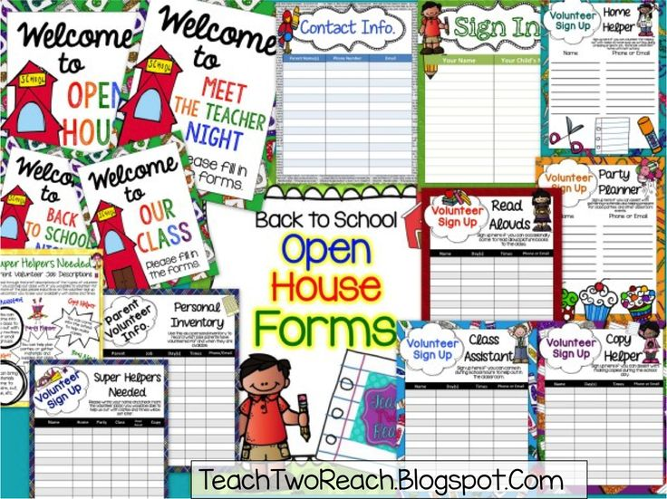 Teach Two Reach 2nd Grade Happenings: Tips and Tools for Back to School - MY TURN - Open House Freebie