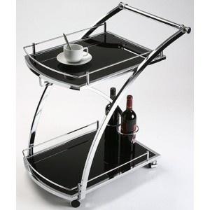 Carro camarera con ruedas en color negro