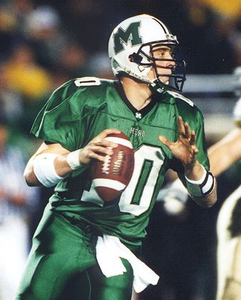 Chad Pennington, great Marshall quarterback who went on to a career in the NFL.. There were many others also who went pro from Marshall