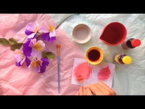 Papetal - Introduction to Paper Flowers - HAND PAINTING - YouTube