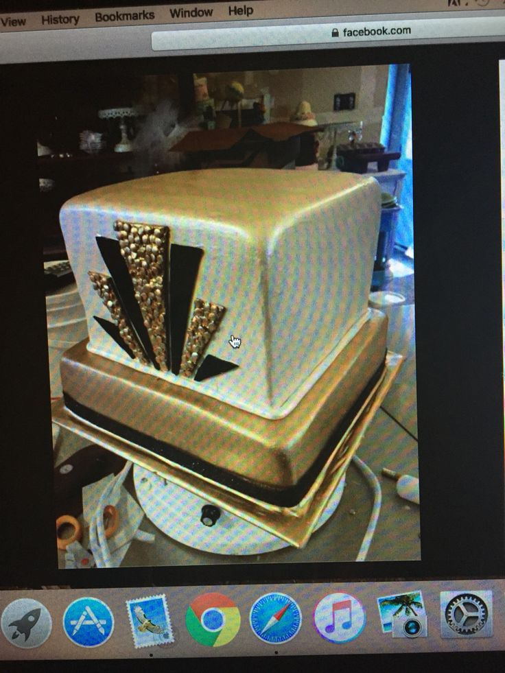Great gatsby theme bridal shower cake Www.ediblesins.com