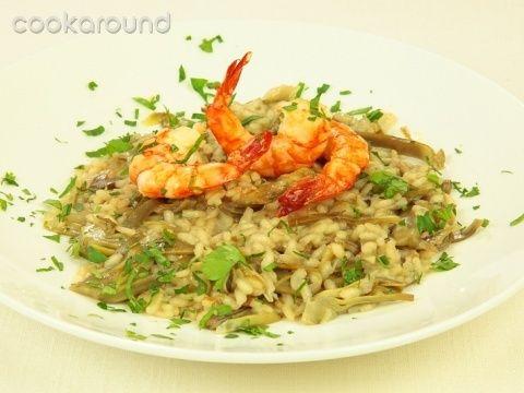 Risotto con carciofi e gamberi: Ricette di Cookaround | Cookaround