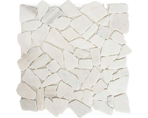 Natursteinmosaik CIOT 206 30,5x32,5 cm Weiß