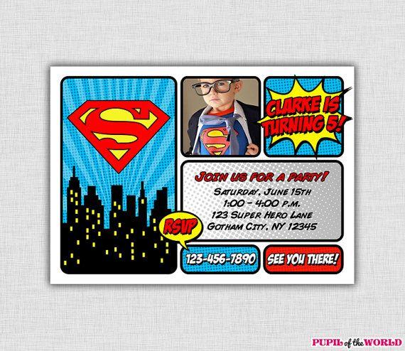 25 Best Ideas about Superman Invitations – Superman Birthday Invitations