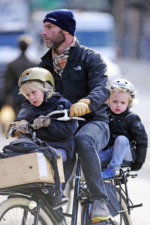 Bike, kids & Beard gotta love the style