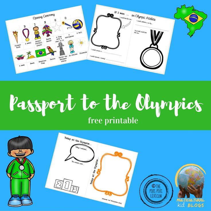 Get your kids excited about the Olympics with this free mini global citizen passport to the Olympics printable for younger children (4-10 years old).