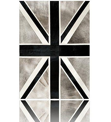 Patchwork cowhide rug UNION JACK Alfombras Piel de Vaca (300 CM X 200 CM, Gris, Blanco & Negro) Pura https://www.amazon.es/dp/B01DQVBAZS/ref=cm_sw_r_pi_dp_XnOfxbMVWR5TC