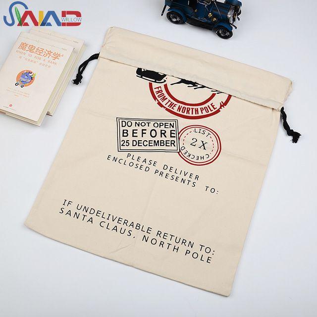 Regalo de Navidad al por mayor algodón saco, Heavy Duty grandes sacos de santa para los niños-en Bolsas de compra de Bolsos de Viaje, Maletas en m.spanish.alibaba.com.