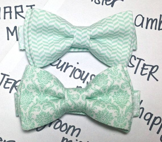 Mint Green Bow Tie  Mint Green Tie for Boys  by forTheMister, $18.00