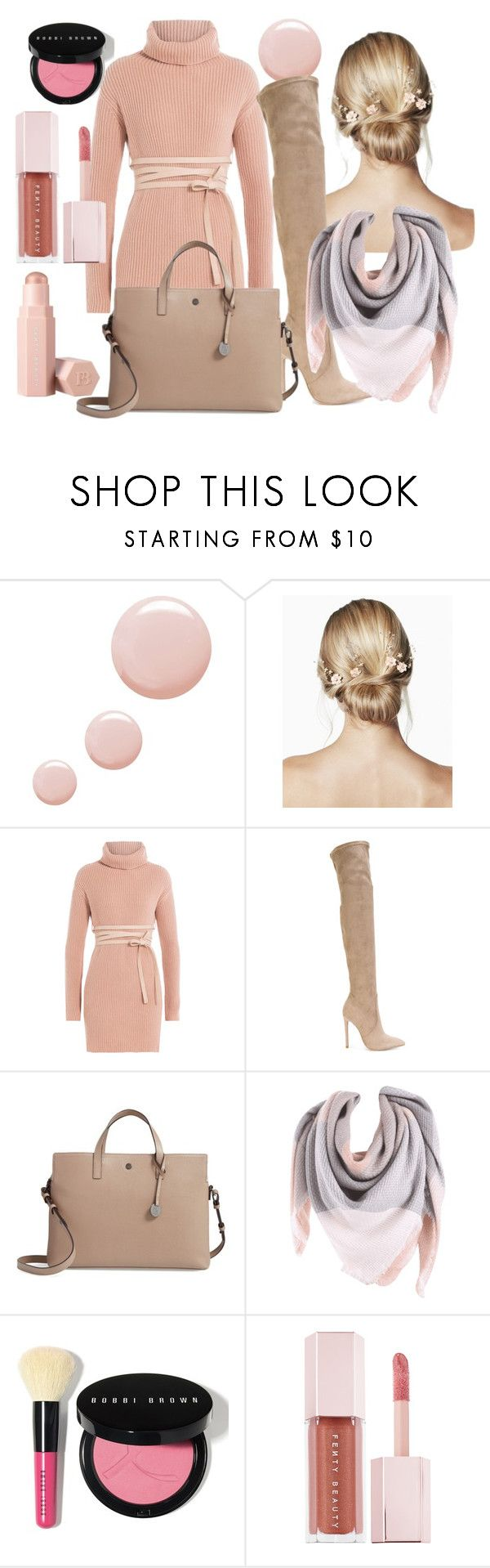 """Warm Blush"" by caitlintol on Polyvore featuring Topshop, Valentino, Gianni Renzi, Lodis, Bobbi Brown Cosmetics and Puma"