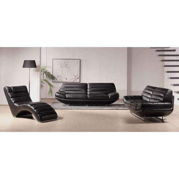 Die besten 25+ Black leather sofa set Ideen auf Pinterest - moderne wohnzimmereinrichtungen