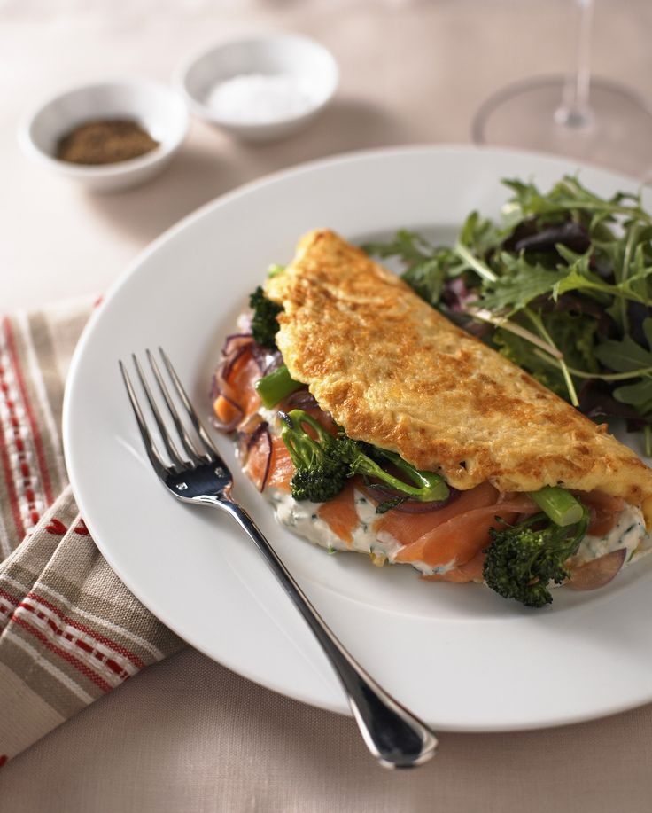 The best omelettes are the ones that don't just feel like breakfast. This one smacks of sophistication with the twin addition of smoked salmon and Tenderstem®.