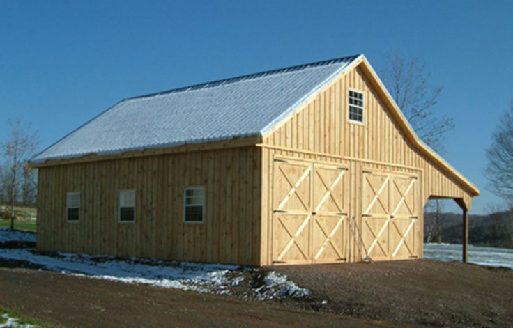 26x36 2 story barn garage with 12 39 overhang modular for Prefab garage with living quarters above