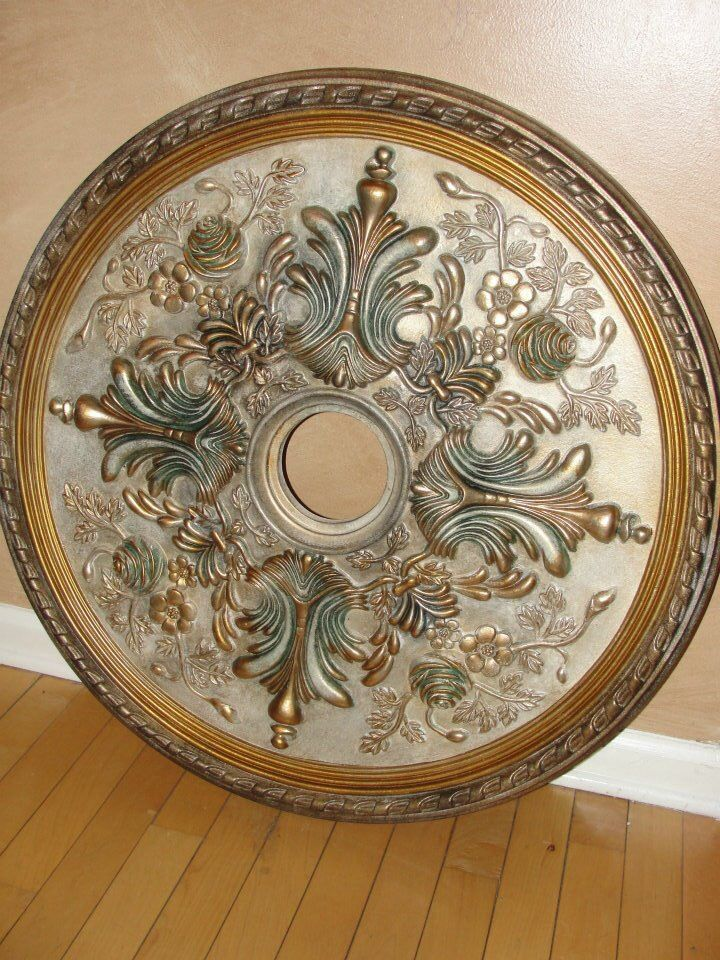 Painted Ceiling Medallion Google Search Ceiling Medallions False Ceiling Bedroom Ceiling