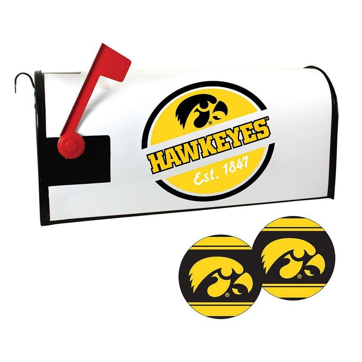 Iowa Hawkeyes Magnetic Mailbox Cover & Decal Set, Multicolor