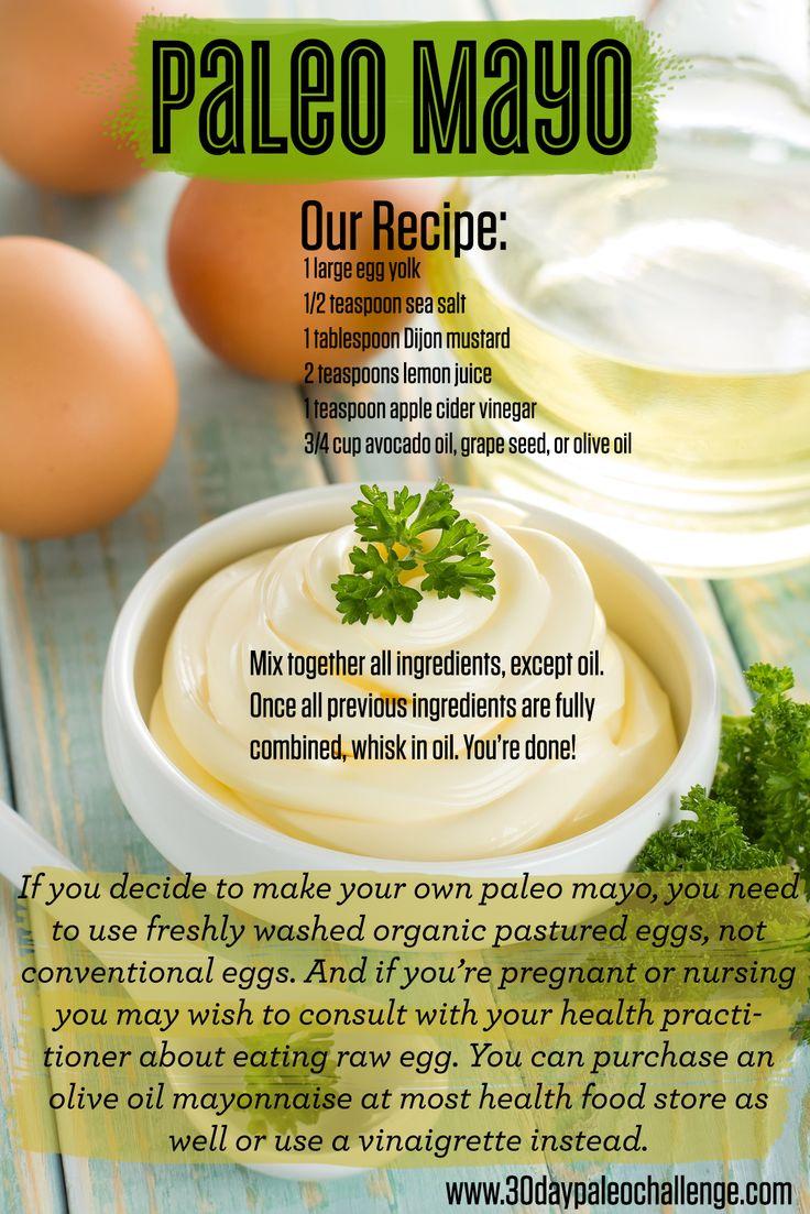 Przepis na majonez wg diety paleo