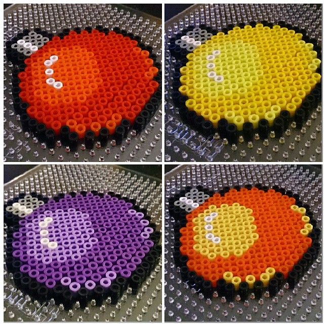 Christmas baubles perler beads by hakakje