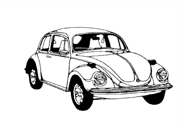 фольксваген жук картинка раскраска