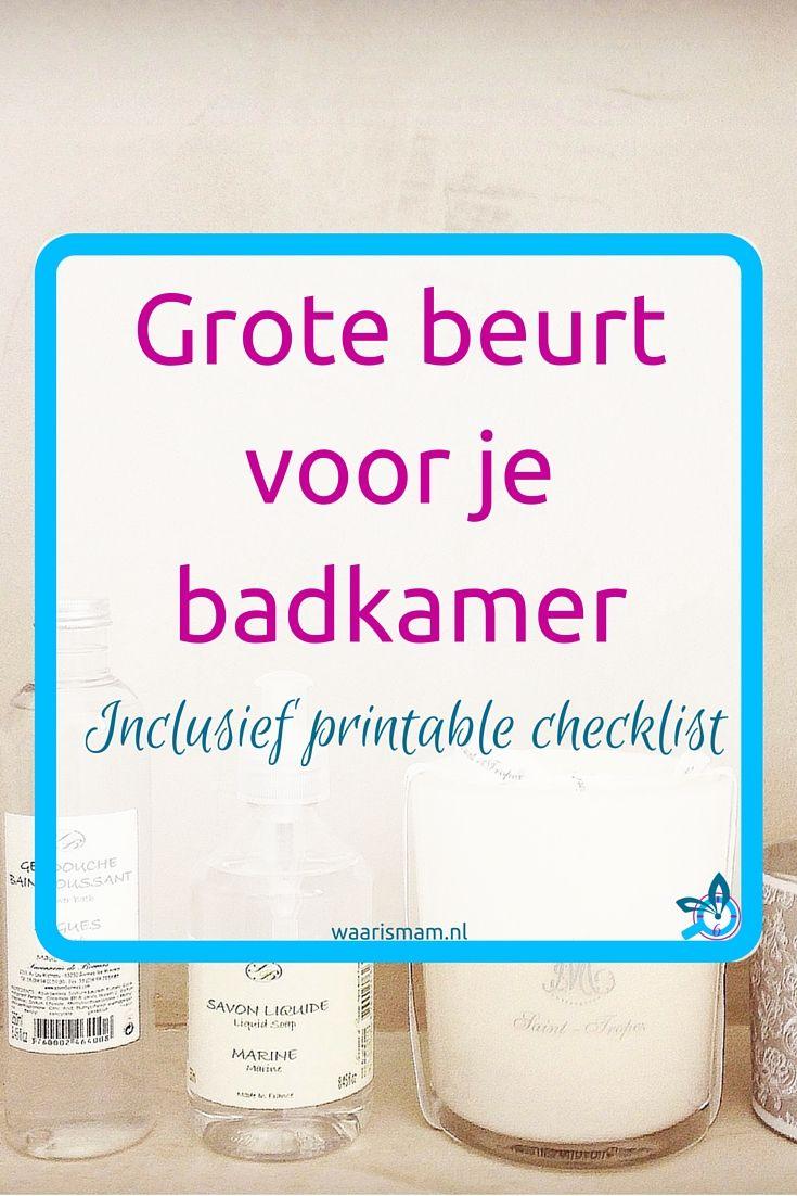 Grote beurt voor je badkamer. Onderdeel van de Voorjaars-Challenge. Deel 2 van 10. Meedoen? Ga naar waarismam.nl