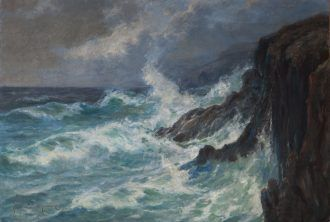 Holger Drachmann: Rocky Coast | Drachmanns Hus | Skagens Kunstmuseer |  Art Museums of Skagen