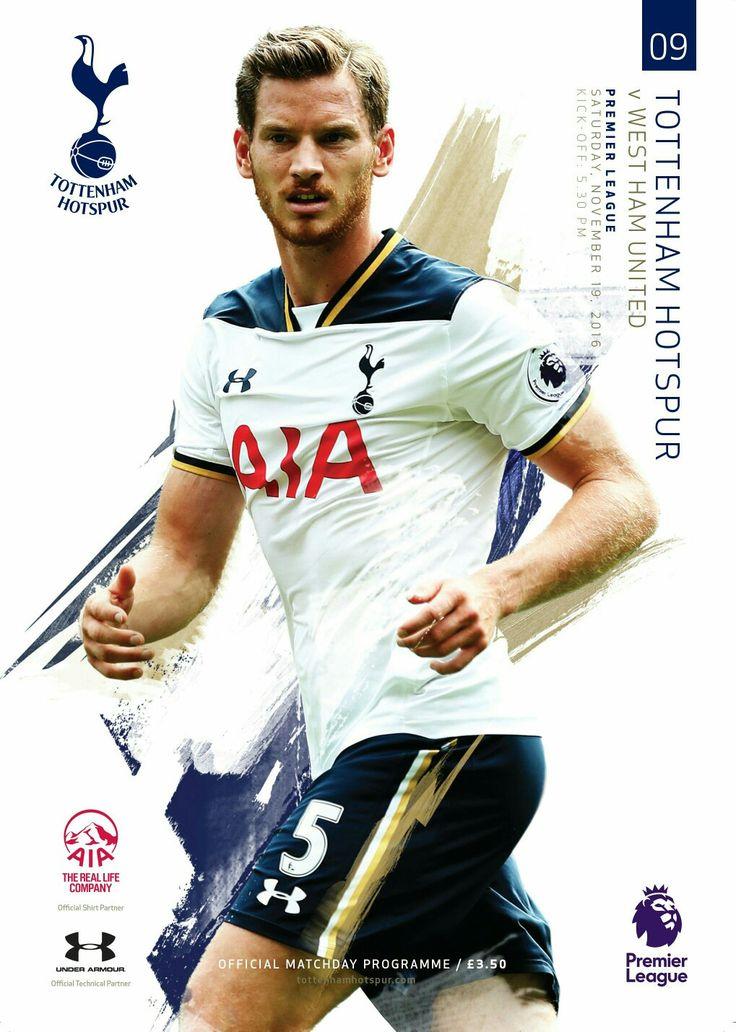Spurs programme v West Ham. 19/11/16