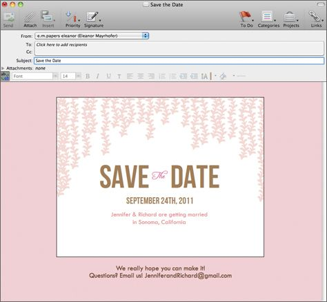 Email Save the Date maybe @nikkigee13 can help me with this?