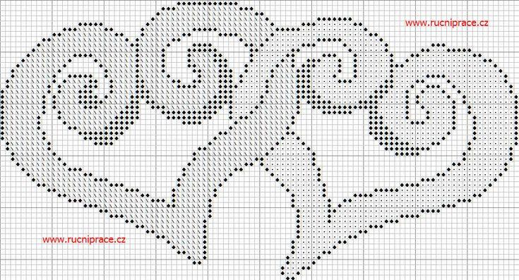 free crochet & cross stitch graphs | Hearts, free cross stitch patterns and charts - www.free-cross-stitch ...