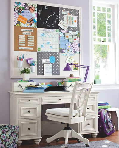32 best images about study spaces on pinterest for Kids office ideas