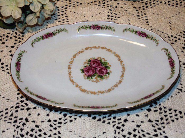 Vintage JL MENAU Pink Rose Celery Plate German Porcelain & 551 best EBAY by BUCKEYE_SMILES images on Pinterest | Blues Ceramic ...