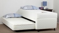 KING SINGLE TRUNDLE BED SET WITH POP-UP LEGS (SLEEPOVER) ENSEMBLE