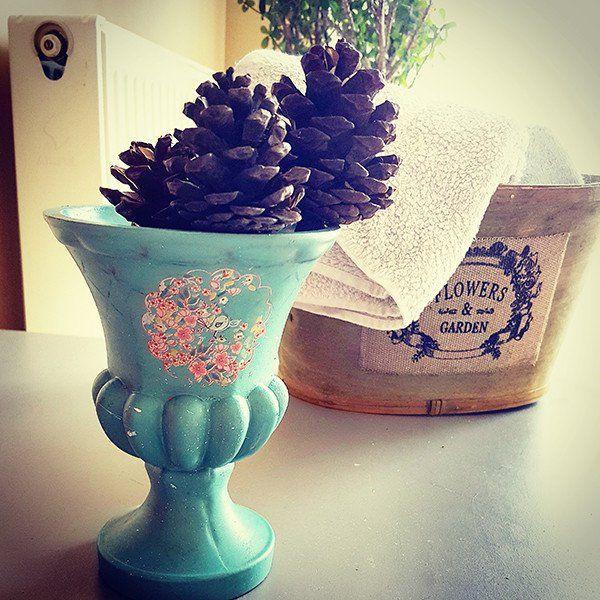 Boyalı Cam Vazo trendolia.com'da. #dekorasyon #çiçek