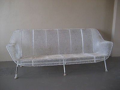 Russell Woodard Sculptura Sofa Atomic Mid Century Modern Vintage Patio Wire  Iron